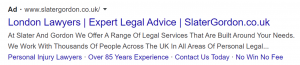 Ad Copy for Lawyers in London